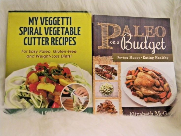 Paleo On A Budget and My Veggetti Spiral Vegetable Cutter Recipes Book Lot of 2
