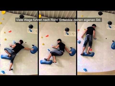 Eindrehen // Standardbewegungen, Technik fürs Bouldern bzw Klettern - YouTube