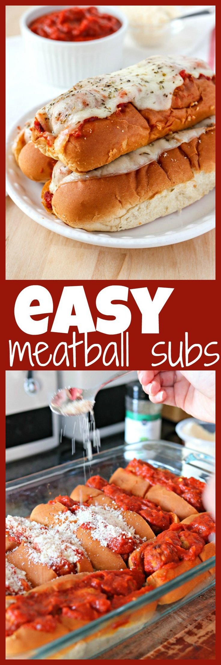 Made with hot dog buns, frozen meatballs, marinara, and provolone, these meatball subs are so simple to make and perfect for feeding a crowd. Don't have a crowd to feed? You can easily adjust this recipe for a smaller group!