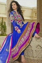 Blue Color Party Wear Anarkali Suit