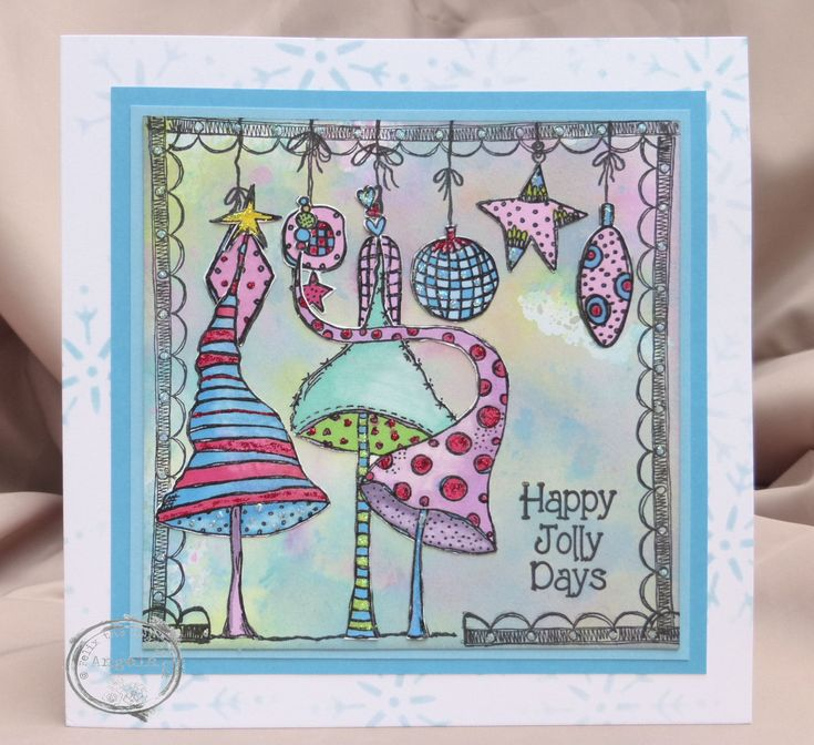 I so love these stamps. Another card made for the Craft Barn.