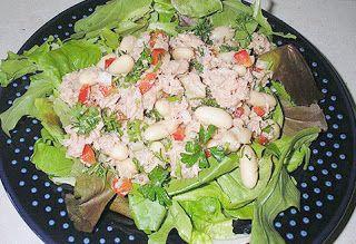 Вкусный салат с белой фасолью и курицей ~ Книга рецептов на блогспот