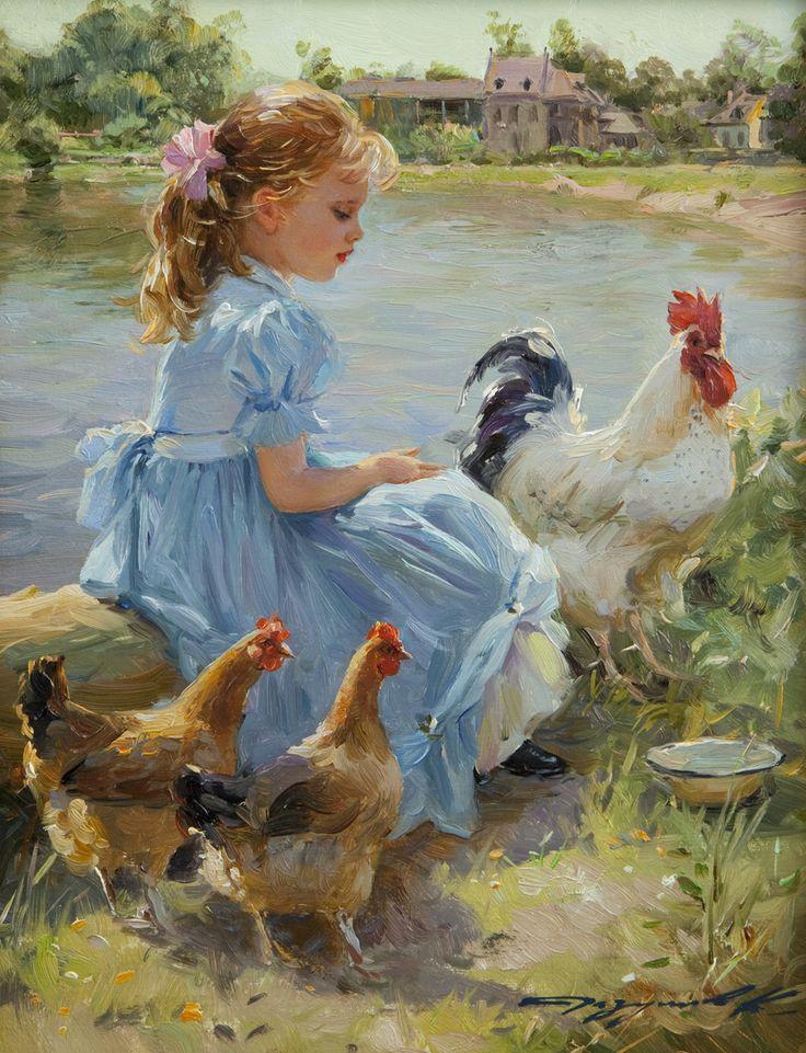 Девочка с цыпленком картинки, яндекс