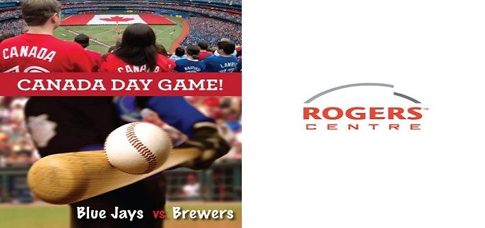 Canada Day Game! $22 for Level 500 Ticket to the Toronto Blue Jays vs. Milwaukee Brewers at the Rogers Centre on July 1, 2014