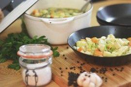 Grønnsakssuppe med potetboller