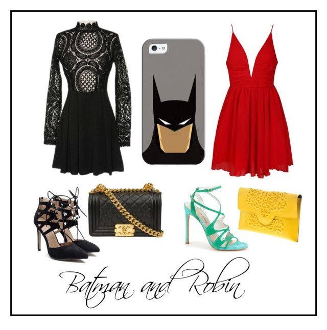 """Batman & Robin"" by painted1981 on Polyvore featuring Casetify, Ally Fashion and Stuart Weitzman"