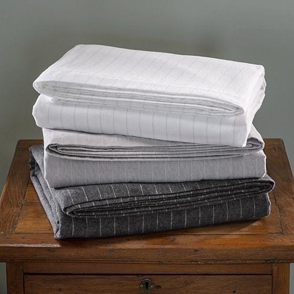 German Luxury Stripe Print 6 ounce Flannel Sheet Sets