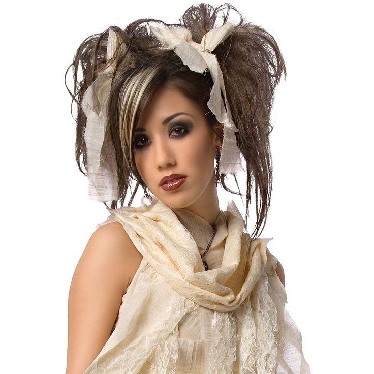 Kids Gothic Mummy Costume Wig, Girl's, Black