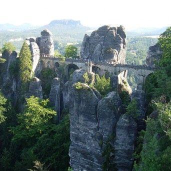 Skalní most Bastei - Mapa, trasa a parkování | Skalní most Bastei