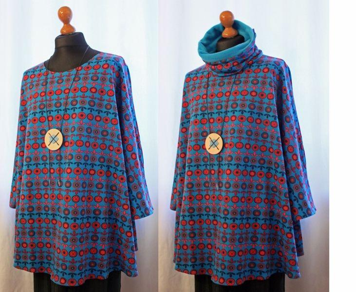 Sweatshirt 44 - 62 Baumwolle türkis - rot Pullover von NOORDLICHT auf DaWanda.com