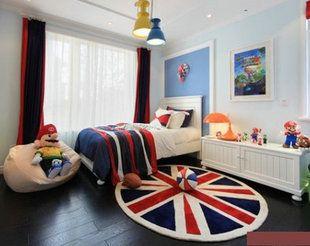 Tide бренд Британский Юнион Джек ковер потратить Lunmi спальня гостиная журнальный столик ден толстые акриловые флаг коврики - Taobao