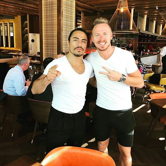 @Regrann from @balazsdzsudzsak7 -  Thank you My Friend for amazing lunch and wish u good luck with new project in Abu Dhabi👌👏🔝 @nusr_et - #regrann