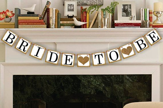 Bride-To-Be Banner - Bridal Shower Decor - Bachelorette Party - Wedding Banners    FREE GIFT WITH EVERY PURCHASE    WE SHIP BANNER OUT IN 24 HOURS