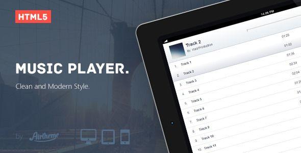 HTML5 Music Player Skin