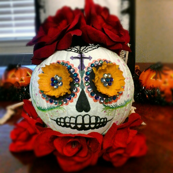 My Sugar Skull Pumpkin | Halloween Treats | Pinterest