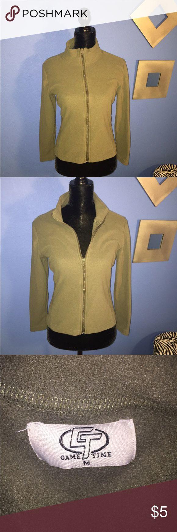 Green zip up fleece. Super soft green zip up fleece. Size M but fits like an XS Tops Sweatshirts & Hoodies