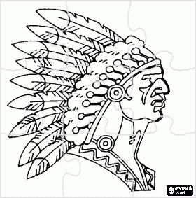 Indian Hat Coloring Sheets Adventures Puzzles Coloring