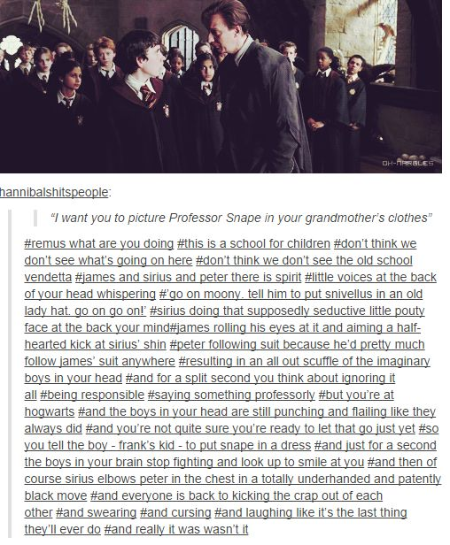 You know Remus has two great guardian angels.<< why must you hurt me like this.