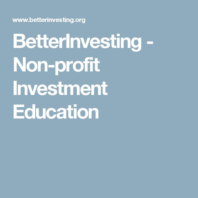 BetterInvesting - Non-profit Investment Education
