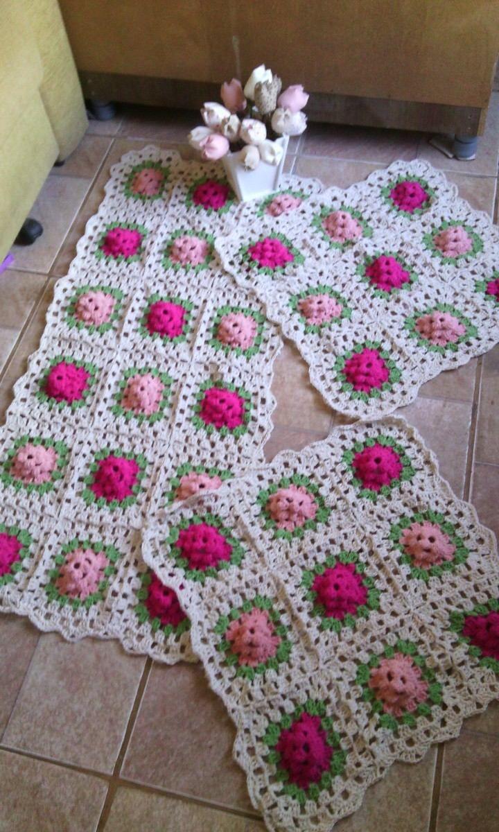 Mollie Flower Crochet Blanket Pattern : Jogo De Cozinha De Barbante E Croch? - RUSD 80,00 no ...