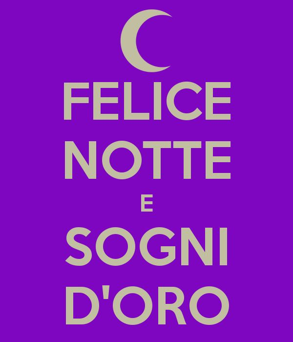 "Learning Italian - ""Good night and sweet dreams"""