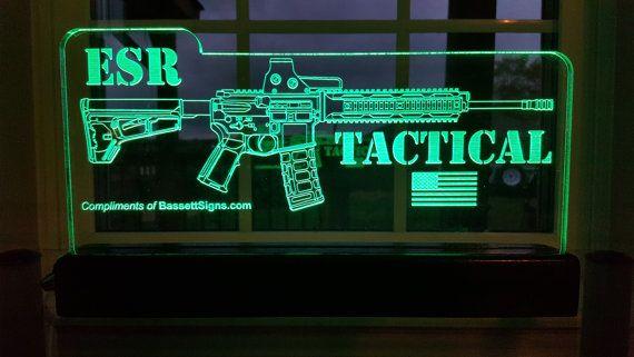 Custom AR15 / M16 Rifle Sign Fully customizable