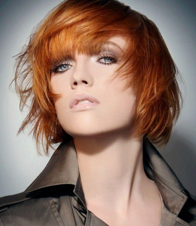 Kupferblonde Haarfarbe Frisur Styling Bob Ideen Damenhaarschnitt Pinterest Redheads