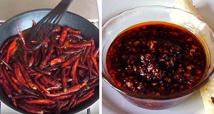 """La exquisita salsa macha es una salsa picante muy mexicana, de consistencia espesa que le da un sabor inigualable a todo tipo de platillos. En la gastronomía jalisciense predominan esos sabores picantes, con salsas """"bien enchilosas"""" como cariñosamente se les dice. Ingredientes: 50 gramos de chile de árbol seco (también puede ser morita o piquín)…"""