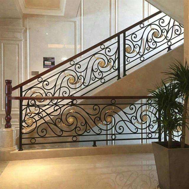Wholesale Gorgeous Interior Wrought Iron Stair Railings Designs