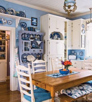 Blue Kitchen Color Ideas On Blue Country Kitchen Ideas For Small Kitchens