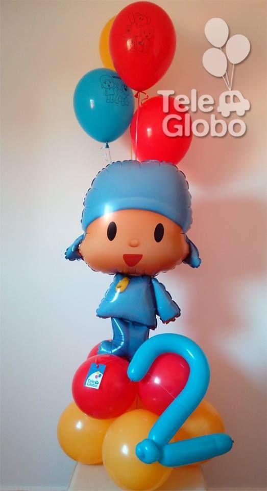Ramo de globos de helio Feliz Cumpleaños de Pocoyó