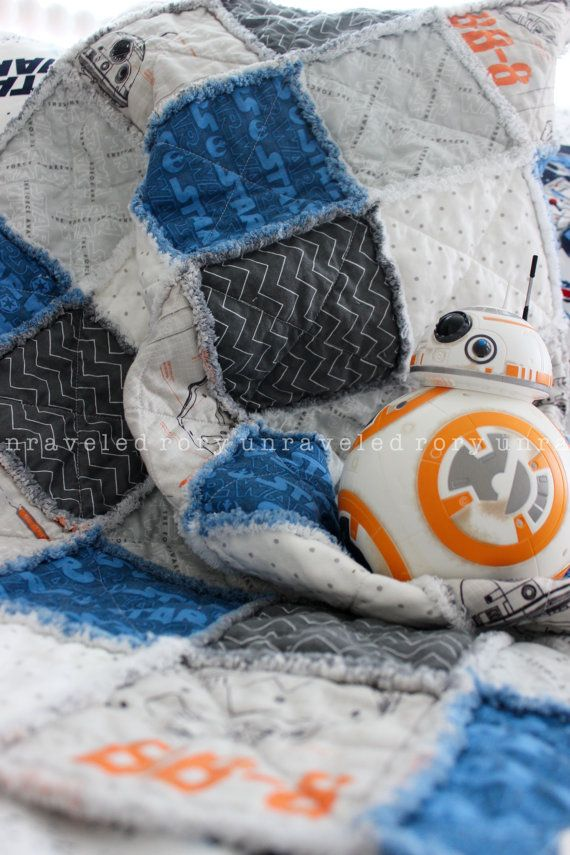 Rag Quilt for Baby Boy or Girl STAR WARS by roryunraveled