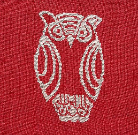 OWL  Scandinavian decorative pillow. DIY pattern by anetteeriksson, $5.00