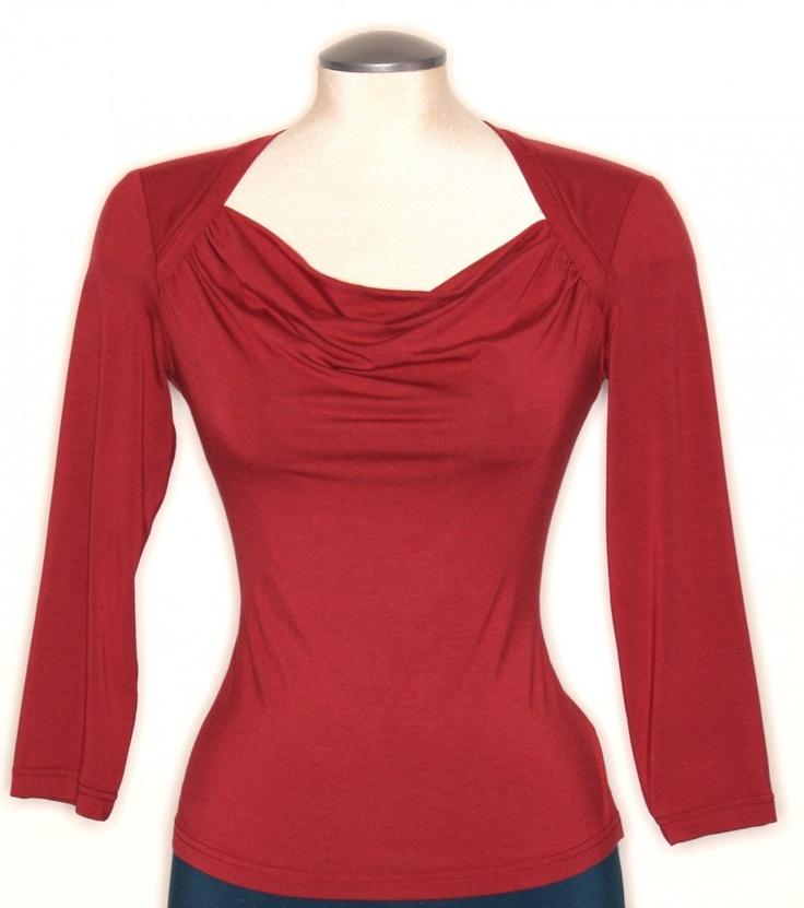 Cranberry Delight ♥ The Charlotte Solid Cowl Tee, $78.00 (http://shop.freshcollective.com/charlotte-solid-cowl-top/)