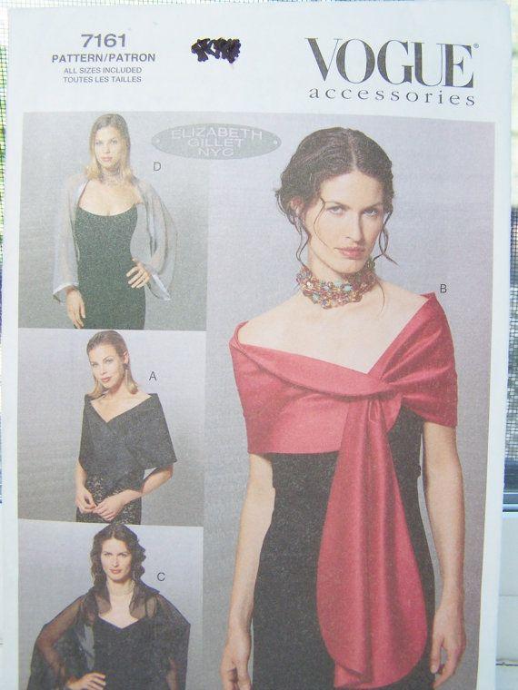 Vogue 7161 Sewing Pattern - Women&39s Evening Wraps Stole Shawl ...