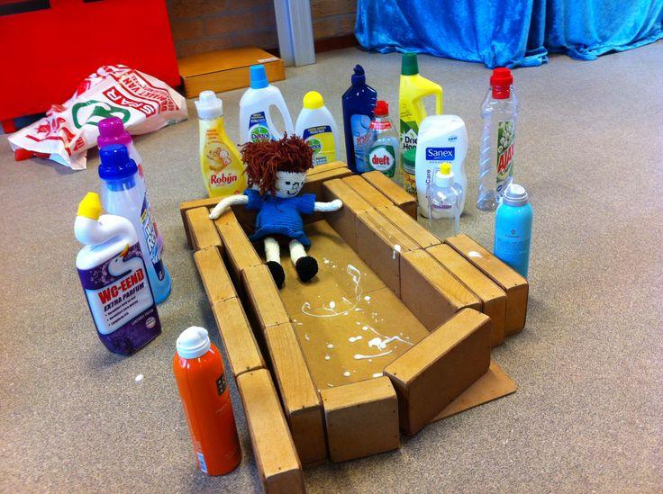 een bad bouwen voor floddertje