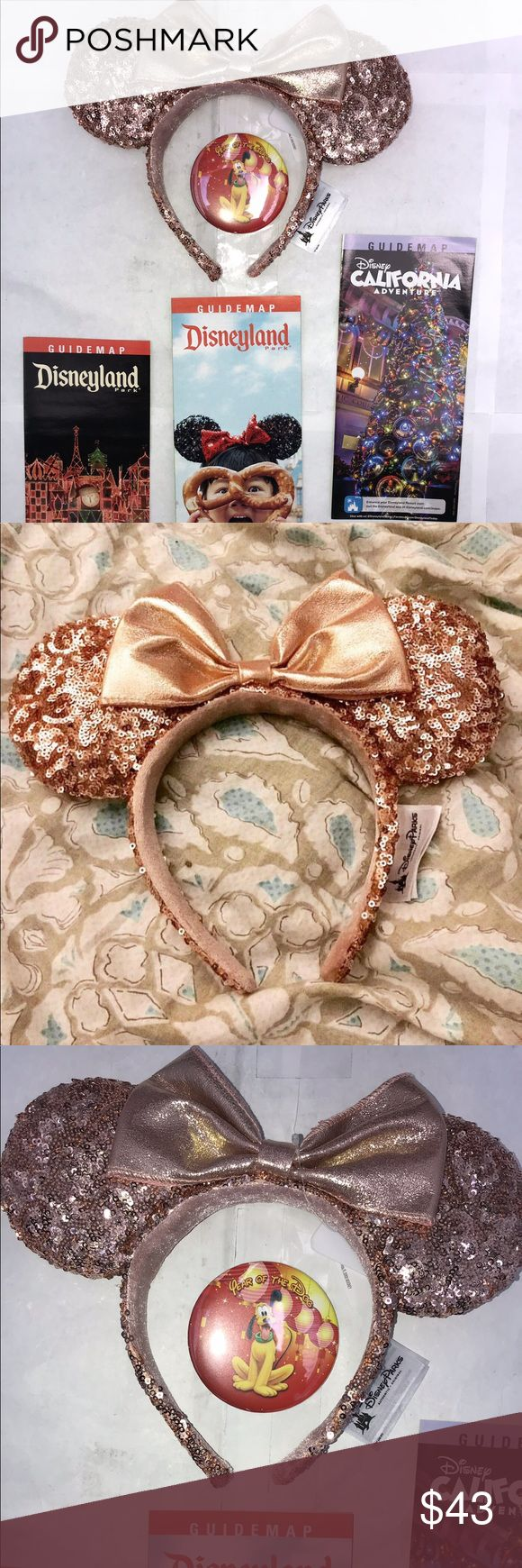 """DISNEYLAND EXCLUSIVE """"ROSE GOLD"""" MINNIE MOUSE EARS """"NOW AVAILABLE FOR A VERY LIMITED TIME""""   New DISNEYLAND """"ROSE GOLD"""" MINNIE MOUSE EARS   THESE DISNEYLAND """"ROSE GOLD"""" MINNIE MOUSE EARS HAVE BEEN SELLING LIKE CRAZY !! .... DISNEYLAND CAN'T KEEP ENOUGH OF THESE IN STOCK TO MEET THE VERY HIGH DEMAND ... MANY SELLERS ARE SELLING THESE """"ROSE GOLD"""" MINNIE EARS AT """"VERY HIGH PRICES"""" ON ( EBAY - AMAZON - INSTAGRAM ) STARTING AT : ( $49.95 - $55.00 - $60.00 And HIGHER ) MY PRICES REMAIN AFFORDABLE…"""