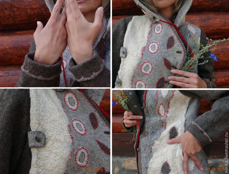 """Купить """"Аура"""", войлочная куртка с капюшоном - валяная куртка, валяная одежда, одежда для женщин"""
