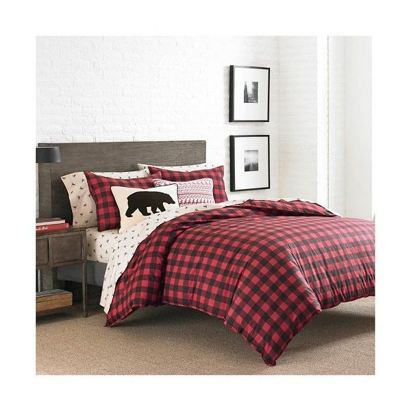 Port Gamble Plaid Duvet Cover And Sham Set (300 BRL) ❤ liked on Polyvore featuring home, bed & bath, bedding, duvet covers, twin bed linens, twin comforter, eddie bauer comforter, tartan plaid comforter and plaid bedding
