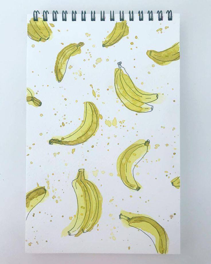 "26 Likes, 2 Comments - Maybloom Studio (@maybloomstudio) on Instagram: ""39/365 Going Bananas!!! #maybloomstudio #watercolour #schmincke #365daysofart #sticktoit #banana…"""