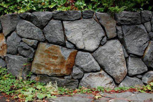 Basalt Boulder Wall