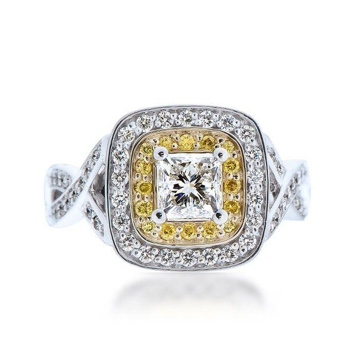 Maple Leaf Diamond Engagement Rings