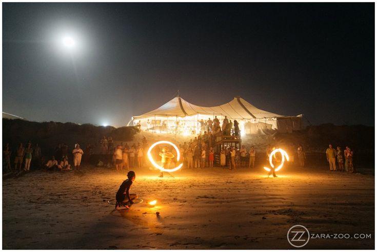 Beach Wedding at #Strandkombuis, #FireDancers, Wedding entertainment