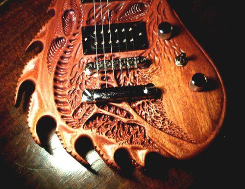 Wood carved Guitar: Art Guitar, Wood Guitars, Art Wood, Amazingly Epic, Wood Carving, Electric Guitar
