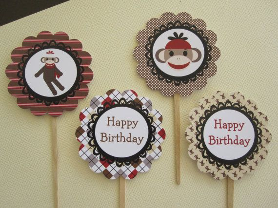 Best 25+ Sock Monkey Cupcakes Ideas On Pinterest