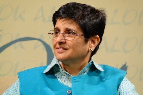 Kiran Bedi - Indian politician, social activist, former tennis player and a retired police officer. Bedi joined the Indian Police Service in 1972, becoming its first woman officer.