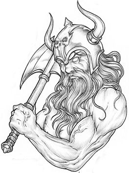 Viking Warrior Tattoo Design