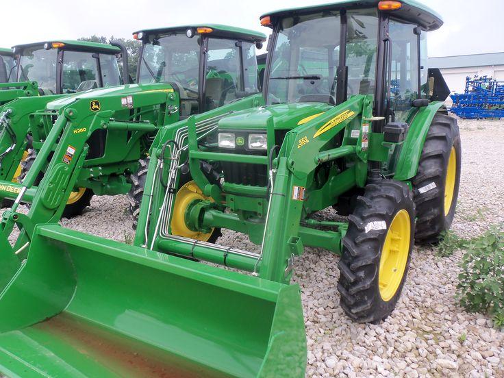 John  Deere 5055E & 553 loader
