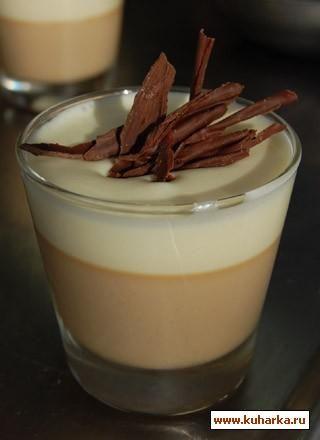 Ароматная кофейная панакота с нежным кремом из белого шоколада, этот дессерт достоен вашего внимания...