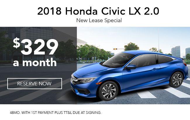 2018 Civic Lx 2 0 Car Lease Honda Civic Civic Lx